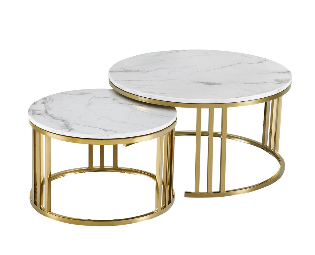 Lancaster Coffee Table Set/2 Gold