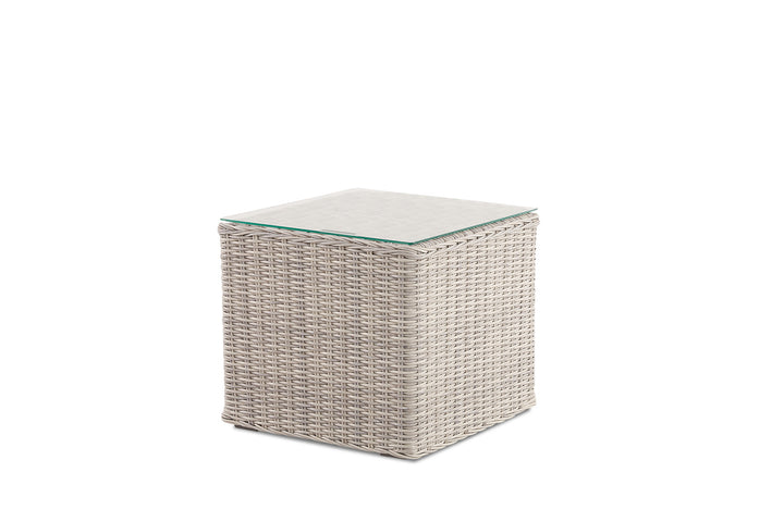 Andros Outdoor Side Table Weathered Grey