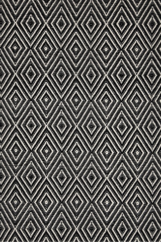 Diamond Indoor/Outdoor Rug Black/Ivory