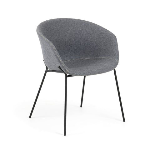 Gianni Armchair Grey Velvet