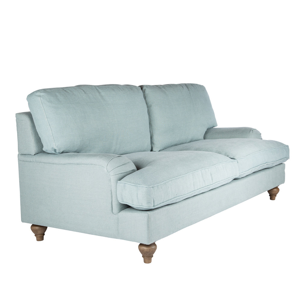 Classic Roll Arm 2.5 Seater Sofa Sea Mist Linen