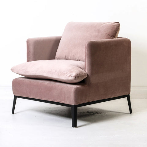 Loren Velvet Chair Rose Dust