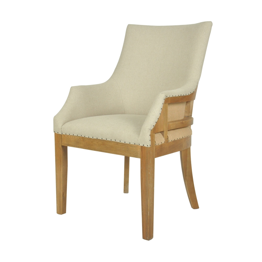 Roberts Linen Armchair Natural