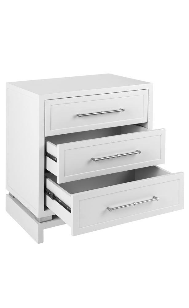 Capize Bedside Chest White