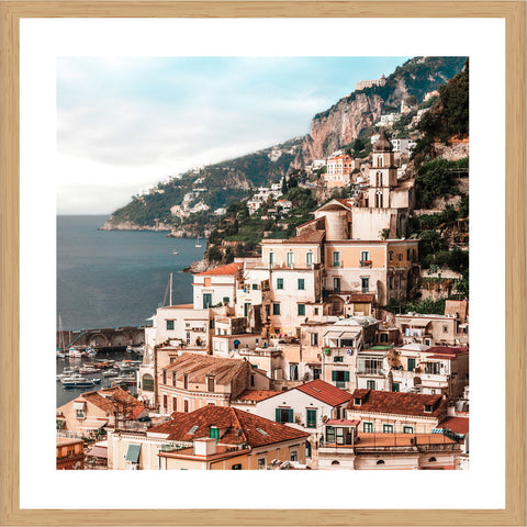 Amalfi Houses Photographic Print with Frame