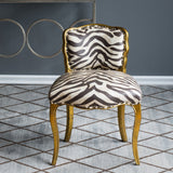 Zebra Print Side Chair