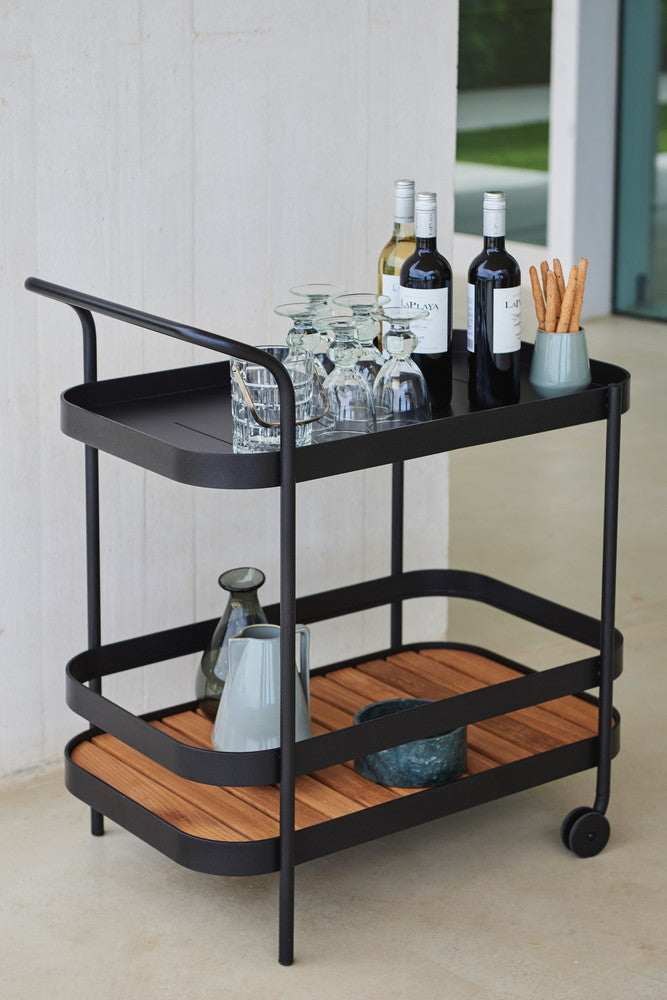 Roll Indoor/Outdoor Bar Trolley Table Lava Grey