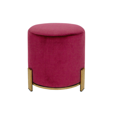 Paxton Ottoman/Low Stool Navy with Gold Base