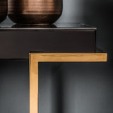 Dalby Black Mirrored Console