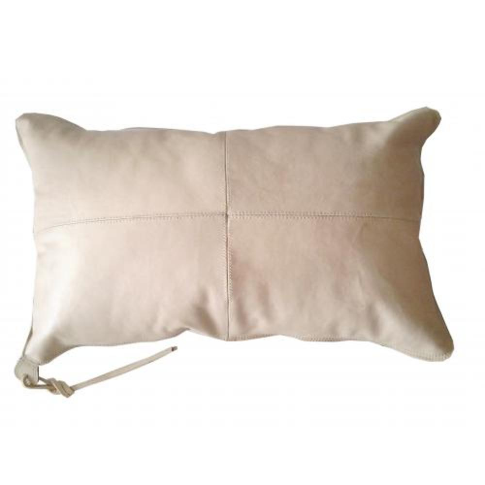Aren Leather Pillow Nude