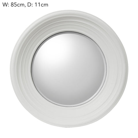 Round Convex Mirror White Large