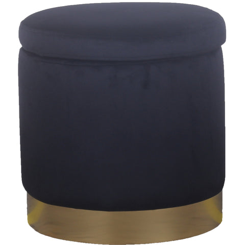 Padstow Ottoman Black Small