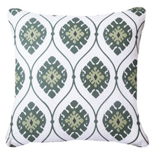 Inner Ikat Repeat Emerald Cushion