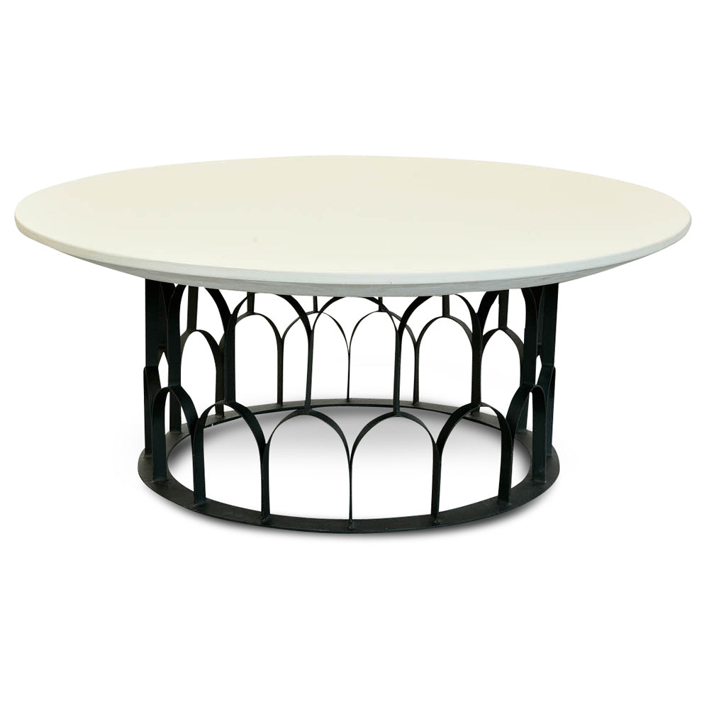 Taylor Concrete Coffee Table White and Black
