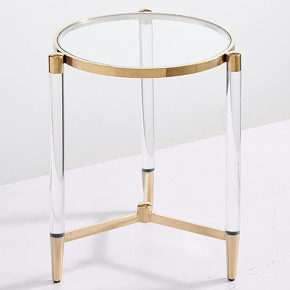 Devin Side Table Gold