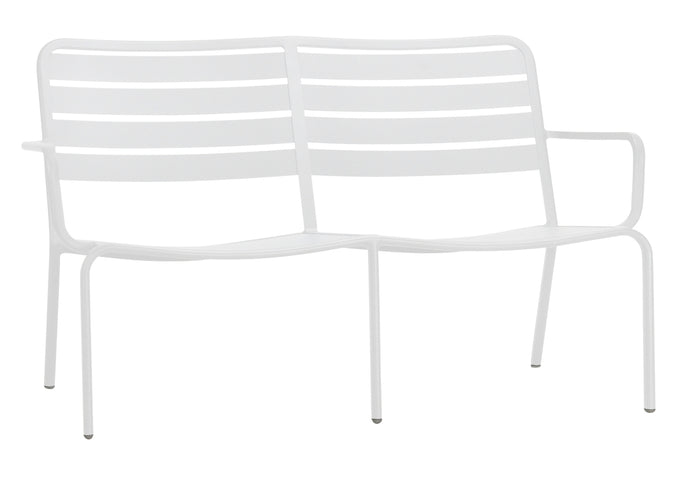 Halmstad Outdoor Love Seat White