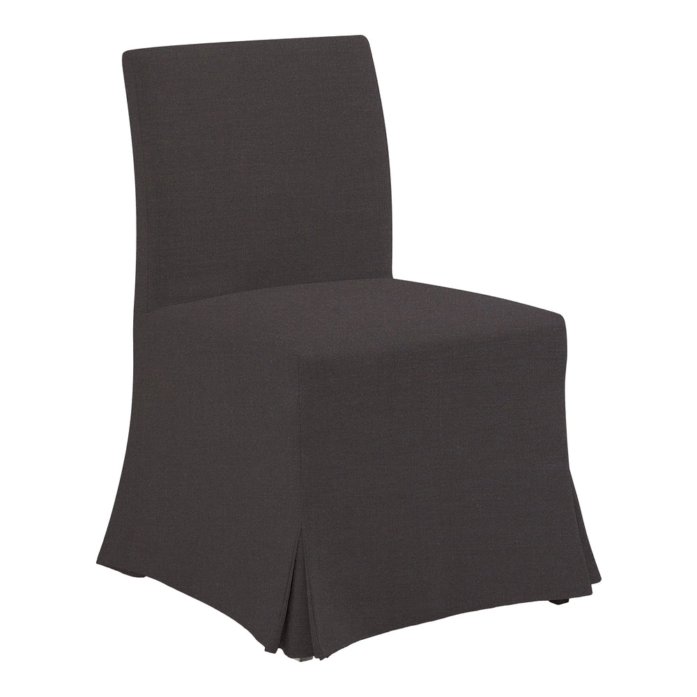 Salina Slip Cover Dining Chair Black