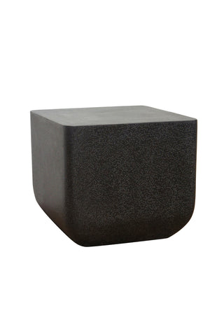 Contempo Square Terrazzo Side Table Black