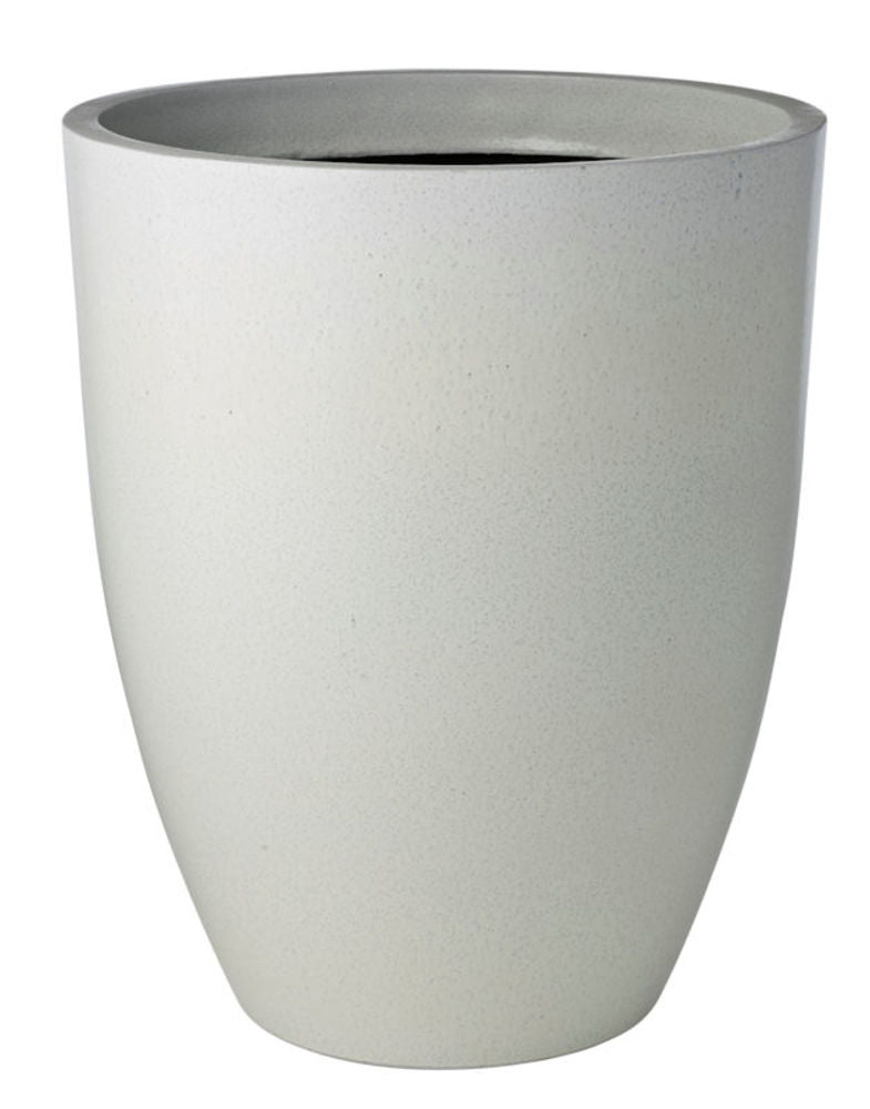 Glazelite Squat Round Planter White 53cm