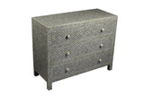 Bone Inlay Geo 3 Drawer Chest