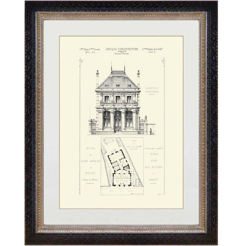 French Architectural Print 2