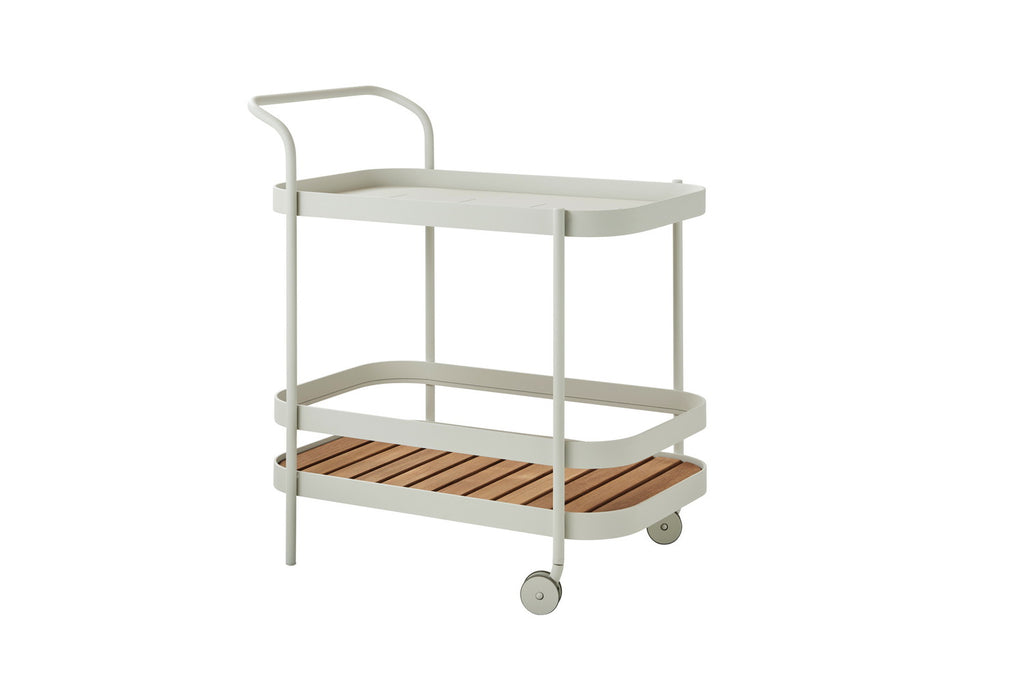 Roll Indoor/Outdoor Bar Trolley White