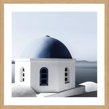 Cycladic Square Photographic Print with Frame