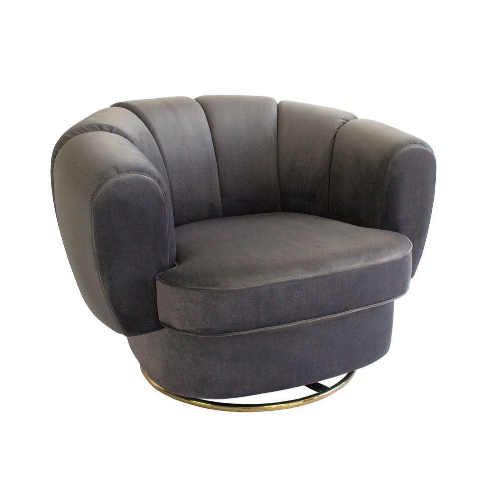 Kinsley Swivel Chair Charcoal