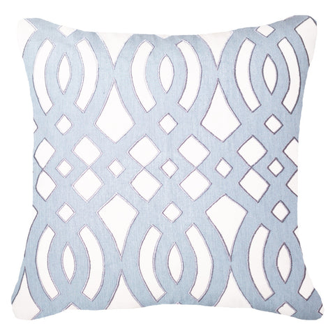 Outdoor Diamond Scroll Lounge Cushion Cloud