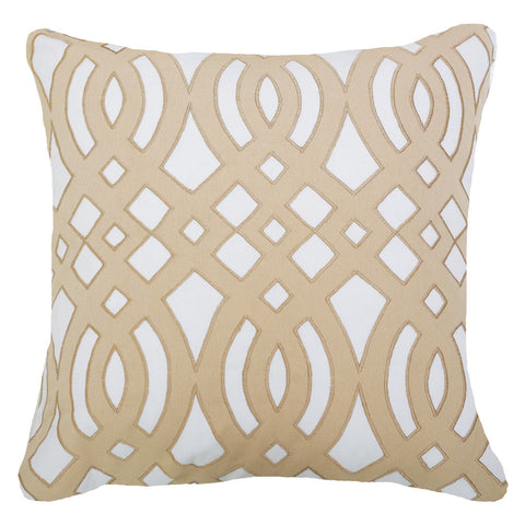 Outdoor Diamond Scroll Lounge Cushion Natural