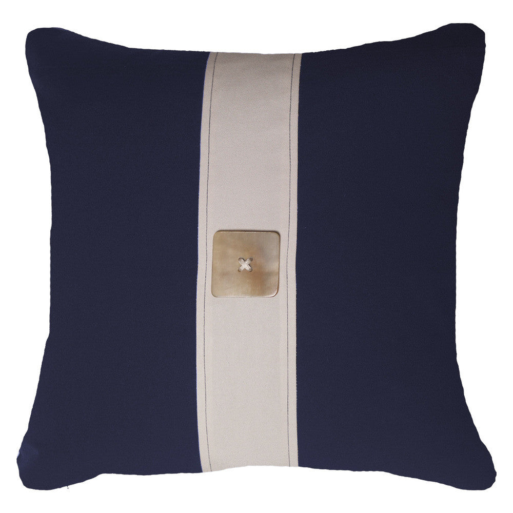 Outdoor Horn Button Lounge Cushion Navy