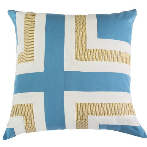 Outdoor Regent Cross Lounge Cushion Lake