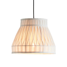 Polly Pleated Pendant Light Ecru