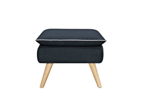 Sixty Luxe Stool/Ottoman Yellow
