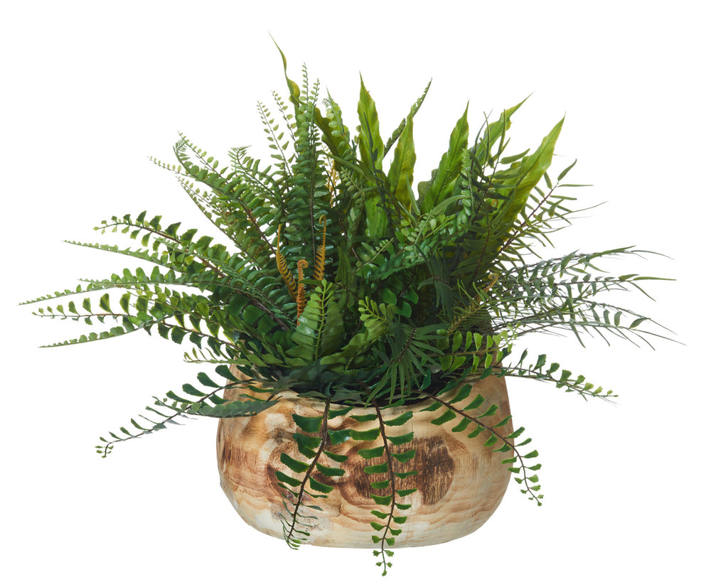 Fern Garden Honed Tilt Bowl