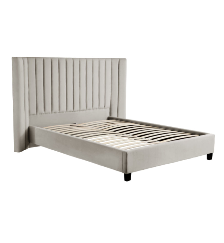 Lulu Bed Light Grey