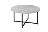 Harper Faux Concrete Coffee Table