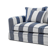 Lauren Denim and Cream 2 Seater Sofa