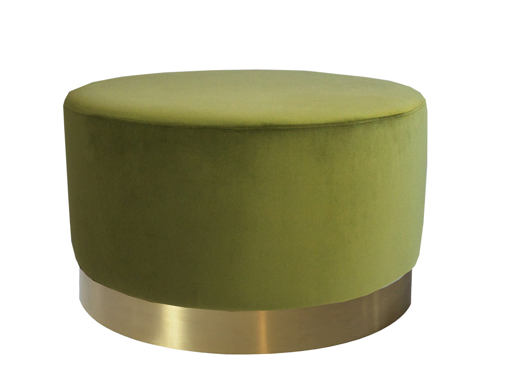 Milan Ottoman Olive Green Large