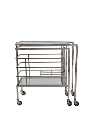 Merlin Drinks Cart Stainless Steel