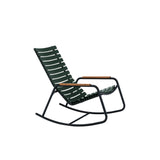 Clips Rocking Chair Pine Green with Bamboo Armrest & Black Frame