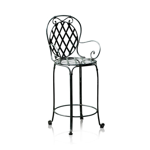 Marseille Wrought Iron Bar Stool