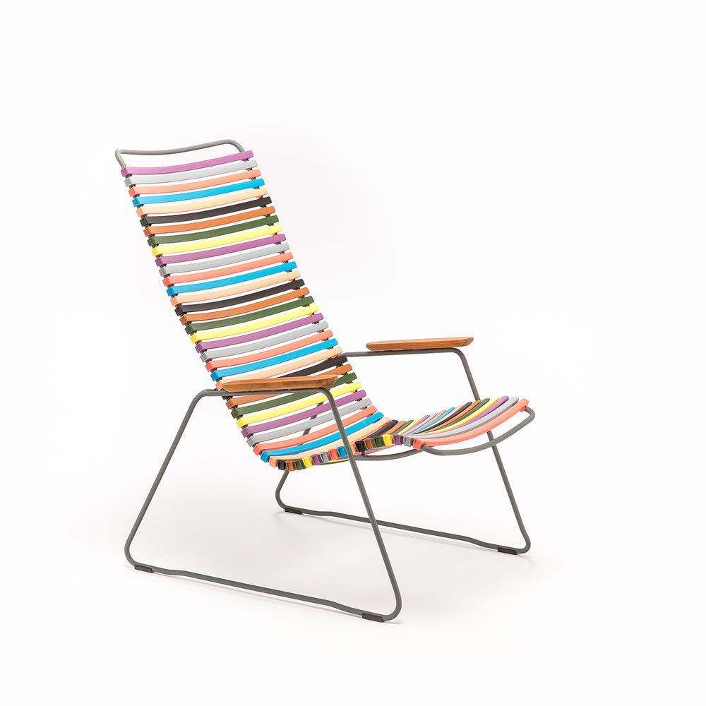 Click Outdoor Lounge Chair Multi Red & Yellow Palette