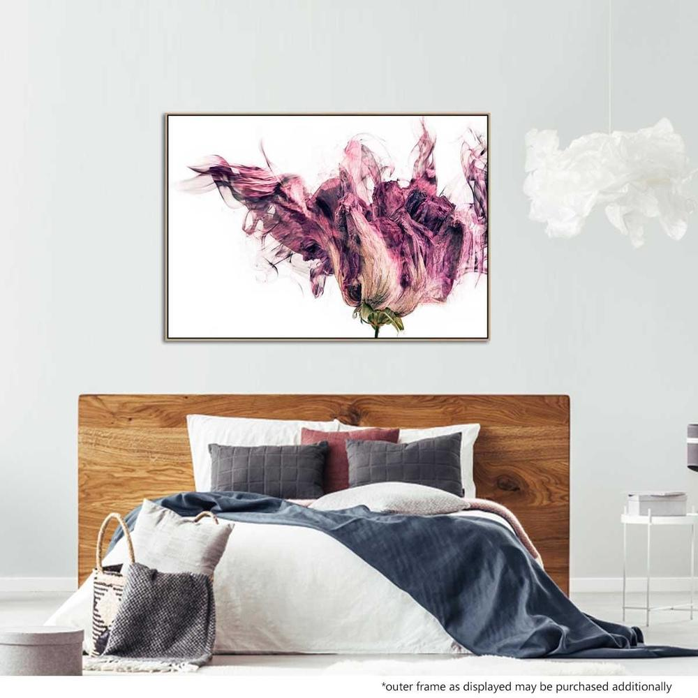 Violetta Bloom Canvas Print with Floating Frame
