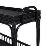 Phoenix Bar Cart Black Rattan