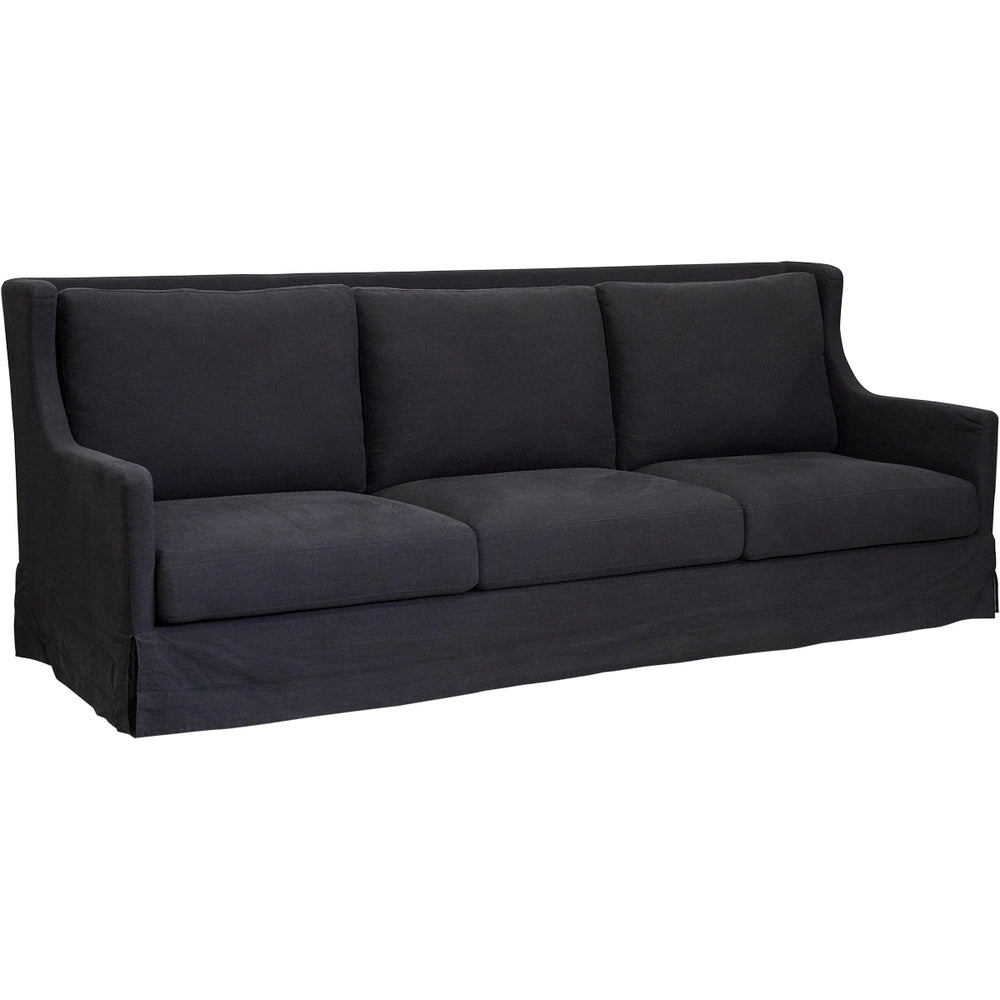 Brice 3 Seat Sofa Black Linen