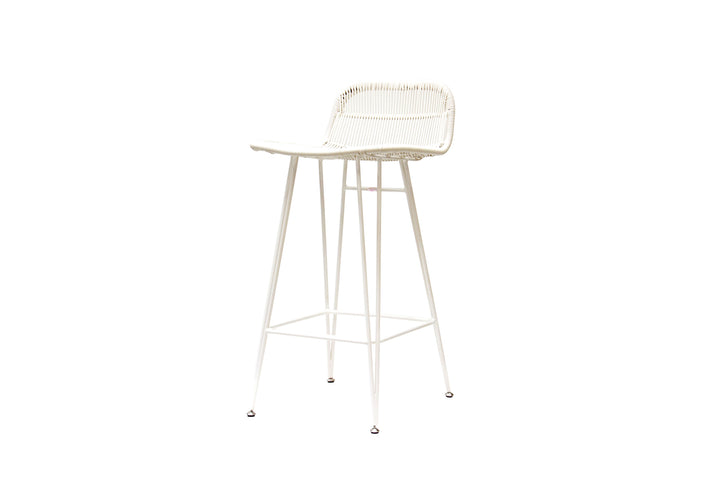 Snow Barstool White