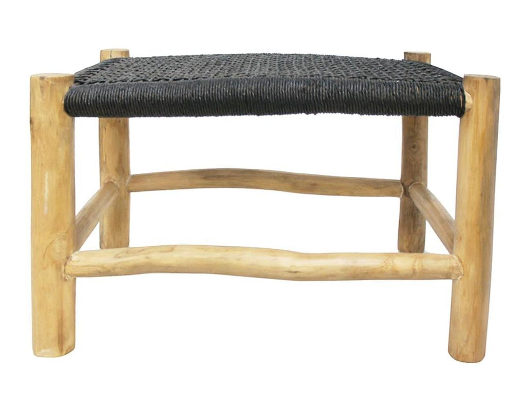 Accent Footstool Black