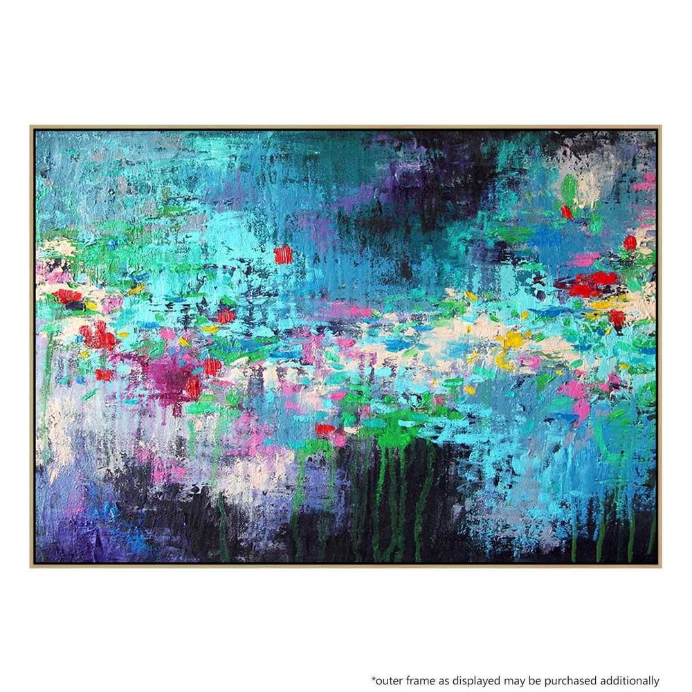 Secret Garden Canvas Painting with Floating Frame