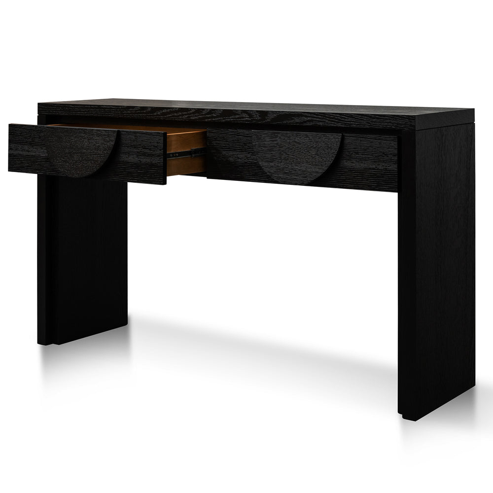 Admiral Console Textured Ebony Black
